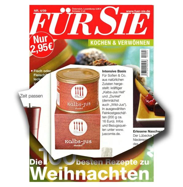 """""""Für Sie"""" Kochen & Verwöhnen, November 2009"""